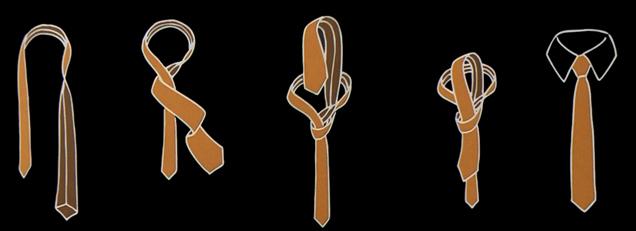 Kentknoten - krawattenknoten