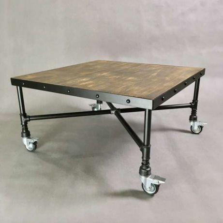 Ein Gerüst auf Abwegen – Tisch mit Rohrgestell