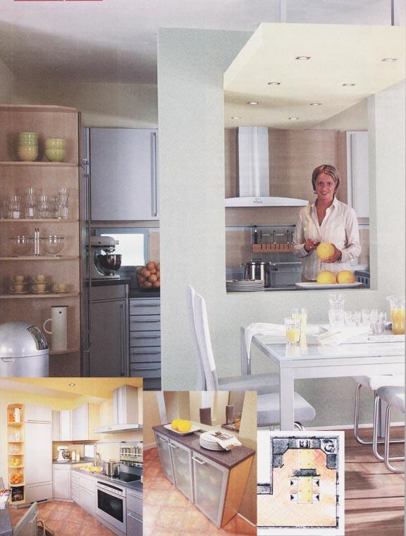 Raumteiler mit Deckenlicht – Kochen, plaudern und genießen vol.1