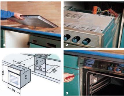 Arbeitsplatz Küche vol.4 Auch Sie können einen Einbauherd montieren