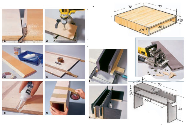 Drei mal drei: Couchtische aus Modulen vol.2 Version eins: Mit besonders großer Tischfläche