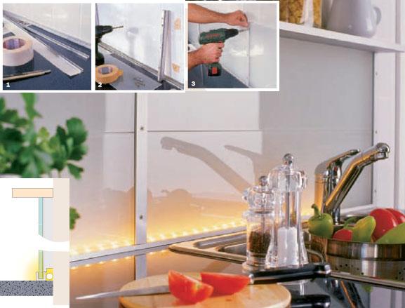 Arbeitsplatz Küche vol.3 Nischenverkleidung mit Beleuchtung