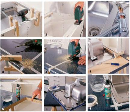 Arbeitsplatz Küche vol.2  Spüle und Arbeitsplatte erneuern