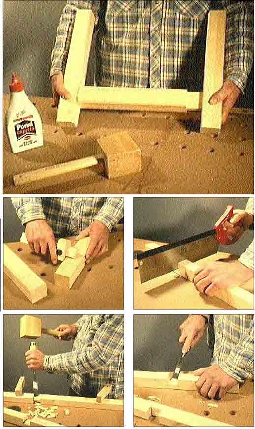 Holz stemmen: Arbeiten mit dem Beitel