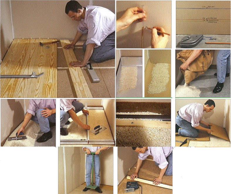 Holzfaserdämmung für Betonböden
