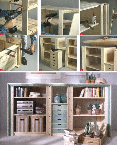 Ein Klassiker von IKEA, viermal raffiniert umgebaut – Wohn möbel aus Kellerregalen