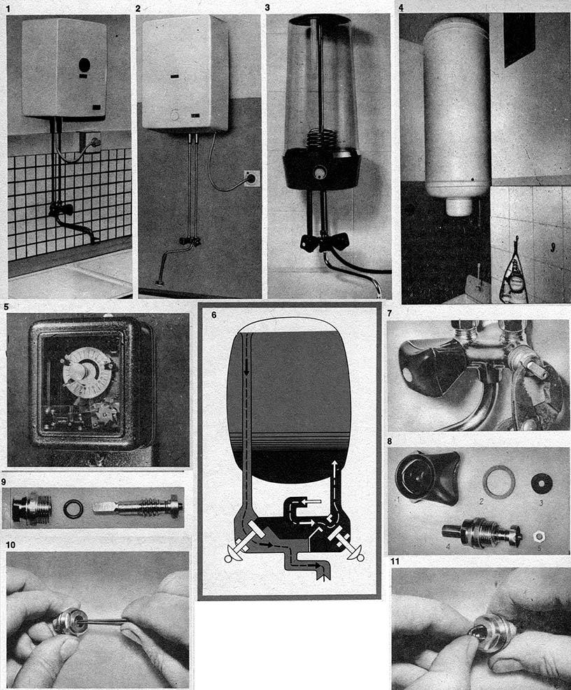 Armaturen an elektrischen Heißwasserspeichern